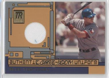 2001 Topps Reserve Game-Worn Uniform #TRR-AR - Alex Rodriguez