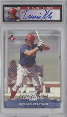2001 Topps Reserve Graded Autographed Rookie #116 - Travis Hafner /1500 [PSA8]