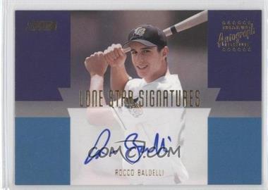 2001 Topps Stadium Club Lone Star Signatures #LS17 - Rocco Baldelli