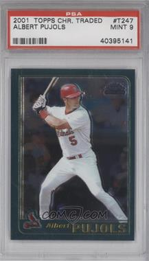 2001 Topps Traded & Rookies Chrome #T247 - Albert Pujols [PSA 9]