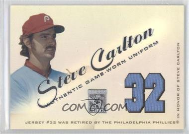 2001 Topps Tribute Retired Jerseys #RJSC - Steve Carlton