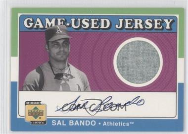 2001 UD Decade 1970's Game-Used Jersey Autographs #SJ-N/A - Sal Bando