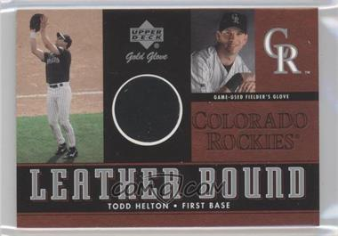 2001 Upper Deck Gold Glove - Leather Bound #LB-THE - Todd Helton