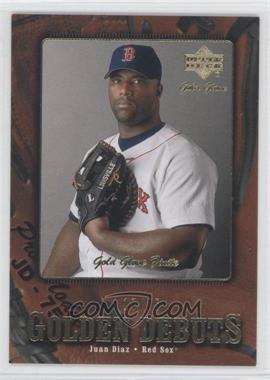2001 Upper Deck Gold Glove Finite #109 - Juan Diaz /25