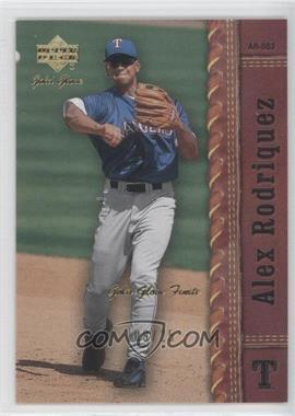 2001 Upper Deck Gold Glove Finite #23 - Alex Rodriguez /25