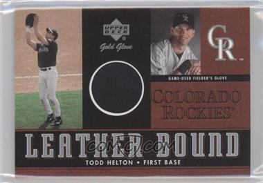 2001 Upper Deck Gold Glove Leather Bound #LB-THE - Todd Helton