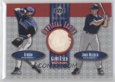 2001 Upper Deck Gold Glove Official Issue Game-Used Balls #OI-10 - Ichiro Suzuki, John Olerud