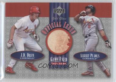 2001 Upper Deck Gold Glove Official Issue Game-Used Balls #OI-DP - J.D. Drew, Albert Pujols