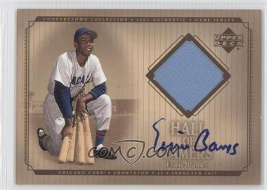 2001 Upper Deck Hall of Famers Game Jersey Signatures #SJ-EB - Ernie Banks