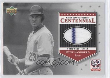 2001 Upper Deck Minor League Baseball Centennial - Game-Used Jerseys #J-RS - Ryne Sandberg