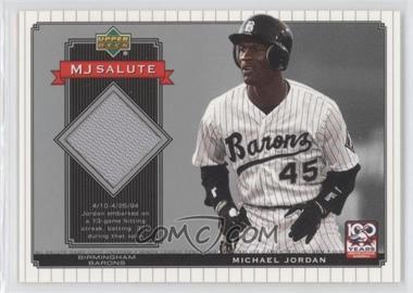 2001 Upper Deck Minor League Baseball Centennial - MJ Salute Memorabilia #MJ-J2 - Michael Jordan