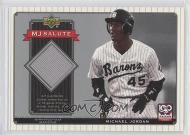 2001 Upper Deck Minor League Baseball Centennial MJ Salute Memorabilia #MJ-J2 - Michael Jordan