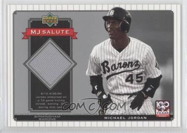 2001 Upper Deck Minor League Baseball Centennial MJ Salute Memorabilia #MJ-J2 - Michael Jordan