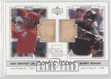 2001 Upper Deck Pros & Prospects - Game-Used Dual Bats #PP-GBO - Barry Bonds, Ken Griffey Jr.