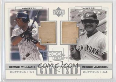 2001 Upper Deck Pros & Prospects Game-Used Dual Bats Legends #PL-WJ - Bernie Williams, Reggie Jackson