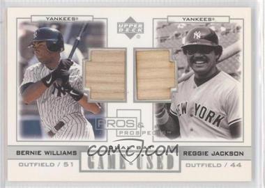 2001 Upper Deck Pros & Prospects Game-Used Dual Bats Legends #PL-WJ - Bernie Williams, Reggie Jackson