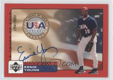 2001 Upper Deck Rookie Update USA A Touch of Gold Autographs [Autographed] #EY - Eric Young /500