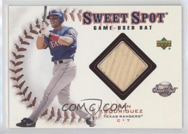 2001 Upper Deck Sweet Spot Game-Used Bats #B-IR - Ivan Rodriguez