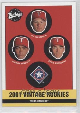 2001 Upper Deck Vintage [???] #348 - Joaquin Benoit, B.J. Waszgis, Brian Sikorski