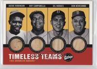 Don Newcombe, Jackie Robinson, Roy Campanella, Gil Hodges