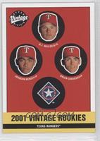 Rangers Rookies (Joaquin Benoit, B.J. Waszgis, Brian Sikorski)
