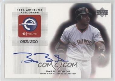 2001 Upper Deck e-Volve Series 2 Signatures #eS-BB - Barry Bonds /200