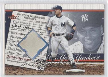 2002 All-Star FanFest Premium Wrapper Redemptions Game-Used #GU-1 - Derek Jeter