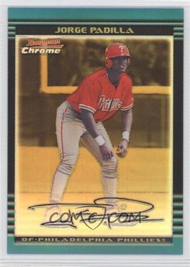 2002 Bowman Chrome Gold Refractor #267 - Jorge Padilla /50