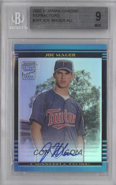 2002 Bowman Chrome Refractor #358 - Joe Mauer /500 [BGS 9]