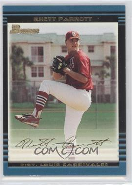 2002 Bowman Draft Picks & Prospects - [Base] - Gold #BDP109 - Rhett Parrott