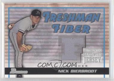 2002 Bowman Draft Picks & Prospects Freshman Fiber #FF-NB - Nick Bierbrodt