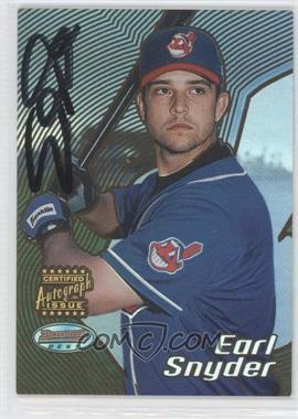 2002 Bowman's Best Blue #175 - Earl Snyder /300