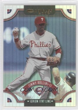 2002 Donruss - [Base] - Stat Line Season #113 - Jimmy Rollins /46