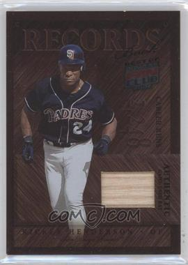 2002 Donruss Best of Fan Club - [???] #R-4 - Rickey Henderson /150