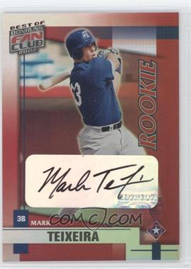 2002 Donruss Best of Fan Club - [Base] - Rookie Autographs [Autographed] #211 - Mark Teixeira /1350
