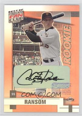 2002 Donruss Best of Fan Club [???] #231 - Cody Ransom /1350