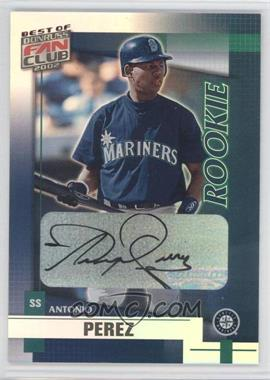 2002 Donruss Best of Fan Club [???] #240 - Antonio Perez /1350