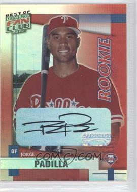 2002 Donruss Best of Fan Club [???] #255 - Jose Pagan /1350