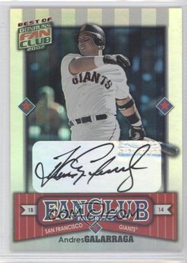 2002 Donruss Best of Fan Club [???] #290 - Andres Galarraga /2025