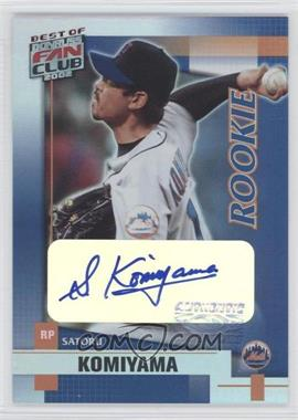 2002 Donruss Best of Fan Club Rookie Autographs [Autographed] #211 - Satoru Komiyama