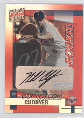 2002 Donruss Best of Fan Club Rookie Autographs [Autographed] #215 - Michael Cuddyer /1350
