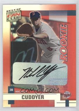 2002 Donruss Best of Fan Club Rookie Autographs [Autographed] #215 - Michael Cuddyer /1350