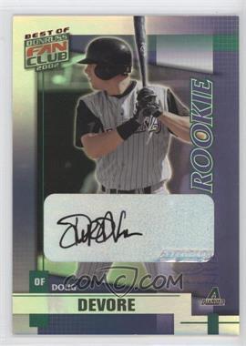 2002 Donruss Best of Fan Club Rookie Autographs [Autographed] #230 - Doug DeVore /1350