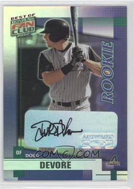 2002 Donruss Best of Fan Club Rookie Autographs [Autographed] #230 - Doug DeVore /1350