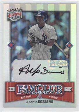 2002 Donruss Best of Fan Club Rookie Autographs [Autographed] #287 - Alfonso Soriano /2025