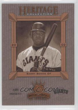 2002 Donruss Diamond Kings [???] #HC-20 - Barry Bonds