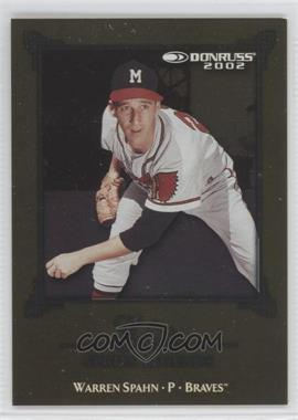 2002 Donruss Elite [???] #ES-19 - Warren Spahn /2500