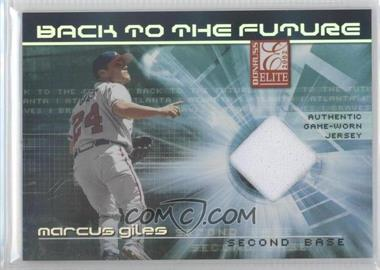2002 Donruss Elite Back to the Future Threads [Memorabilia] #BF-4 - Marcus Giles, Chipper Jones /50