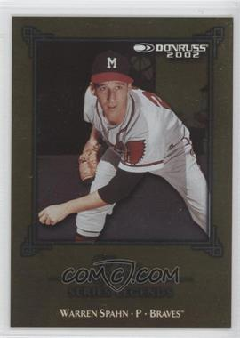 2002 Donruss Elite Series #ES-19 - Warren Spahn /2500