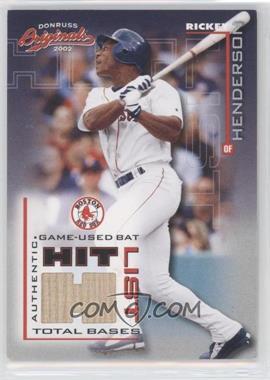 2002 Donruss Originals - Hit List - Jerseys [Memorabilia] #HL-11 - Rickey Henderson /285